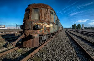 Abandoned Orient Express Train