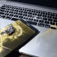 Safe Note 7 Exploded and Destroyed MacBook Pro With It