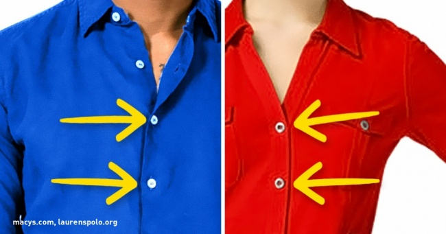 Why Buttons on Men's and Women's Shirts Are on Opposite Sides