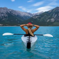 Kayaking in Prisitine Waters of Nordegg, Canada