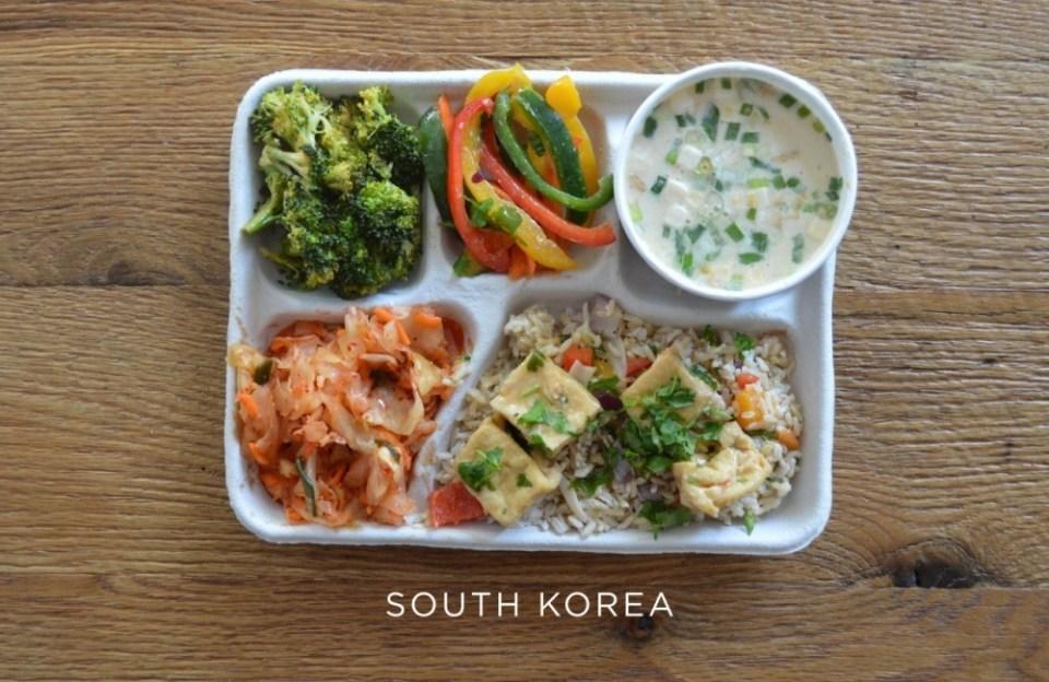 south korea School Lunch
