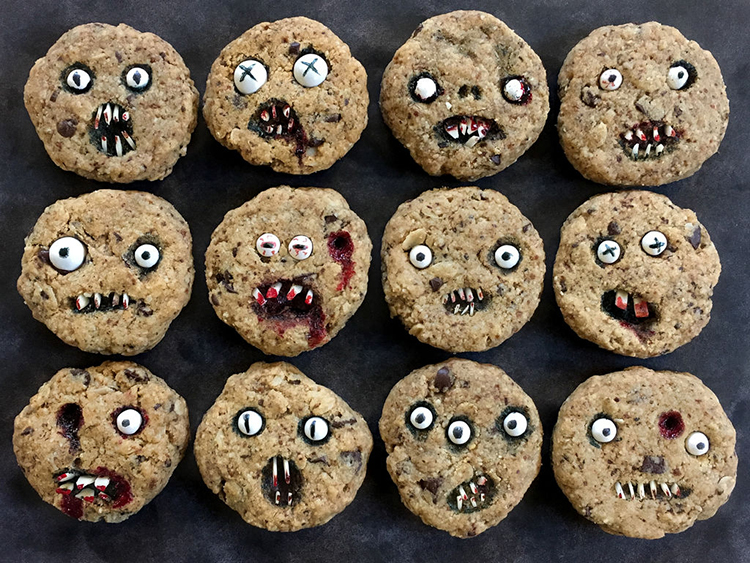 Chocolate Chip Halloween Cookies