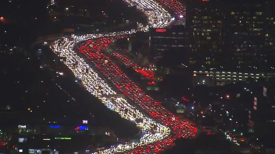 Los Angeles Thanksgiving Traffic Jam