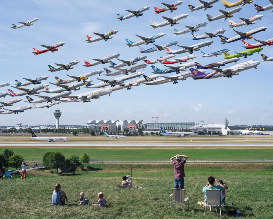 Planes Taking Off and Landing Composites