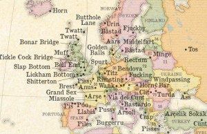 Map Of All The Rude City And Town Names