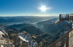 The bridge over the Dachstein glacier, Austria