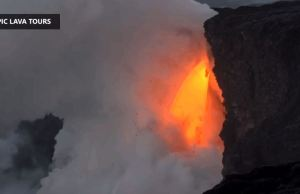 Kilauea Volcano in Hawaii Pours Lava