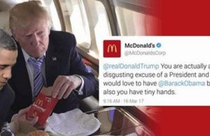 McDonald's Twitter Roasted Trump