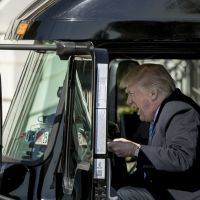 Donald Trump Behind The Wheel of a Truck And Internet Photoshop Battle Begins