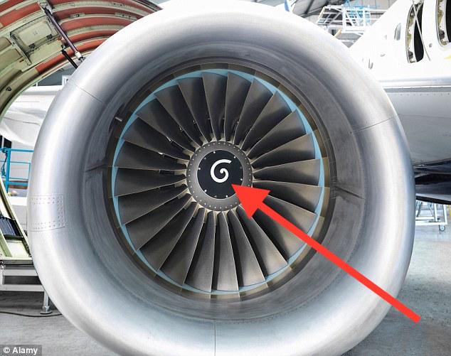Spirals Inside An Airplane Engine