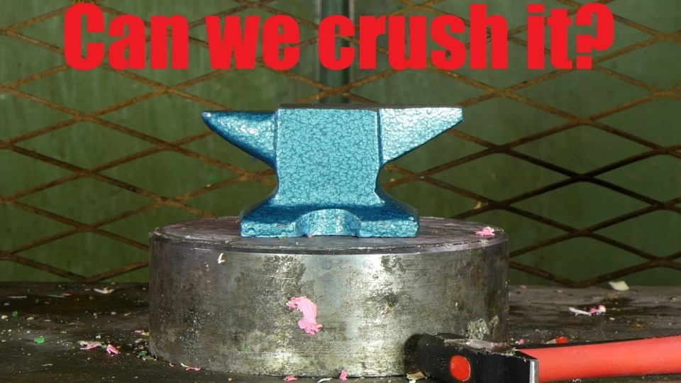 Hydraulic Press Vs The Mighty Anvil