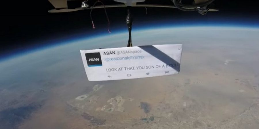 First Protest From Space Against Trump