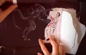 Hand-Drawn ALIEN: COVENANT Flipbook