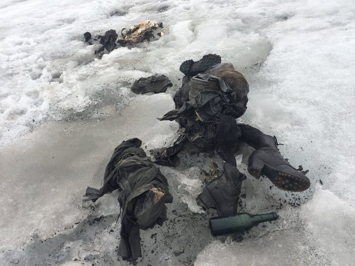 Bodies of couple found after being buried in ice for decades, Les Diableret, Switzerland - 13 Jul 2017