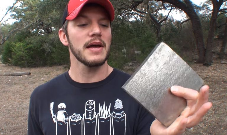 What Happens When You Shoot 50 Cal Sniper Bullet At A Titanium Block