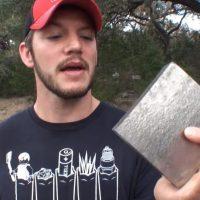 What Happens When You Shoot 50 Cal Sniper Bullet At A Titanium Block