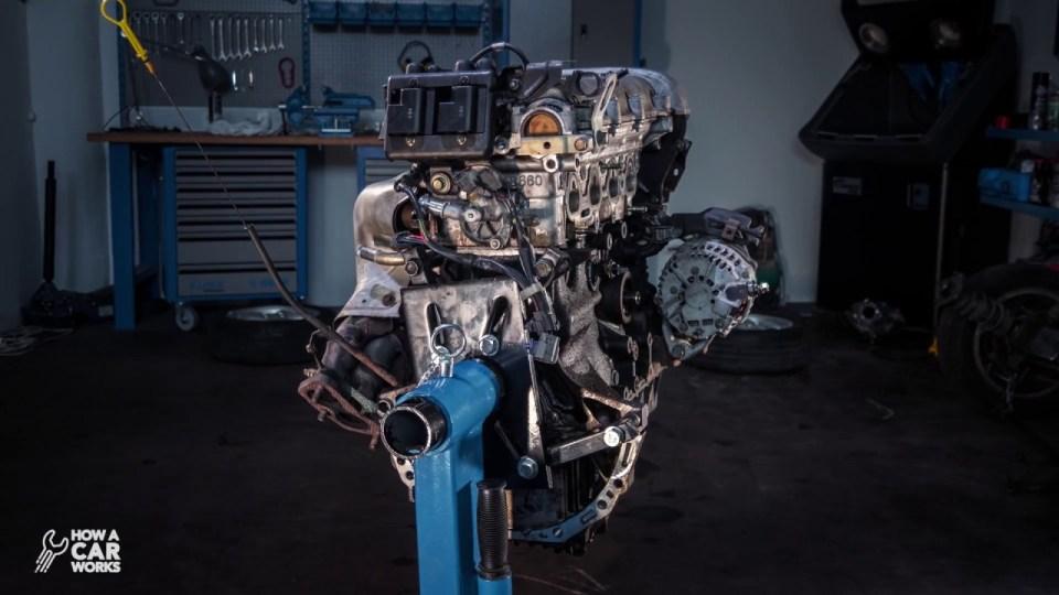 Teardown of a Car Engine