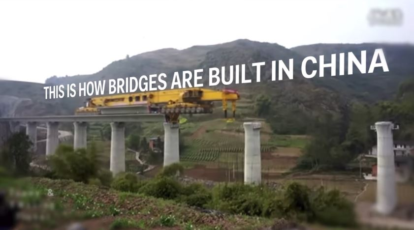 580-Ton Monster Machine is Building Bridges Across China