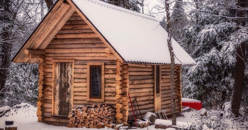 Log Cabin Timelapse Built By One Man