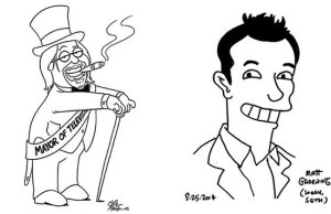 Matt Groening and Seth MacFarlane