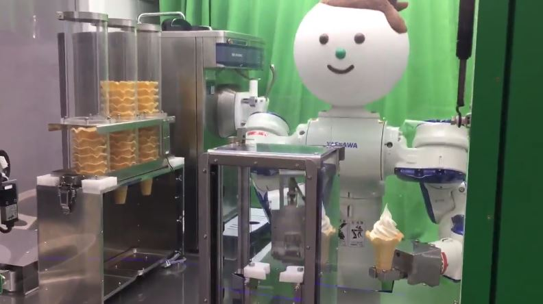 Check Out Robot Ice Cream Vending Machine