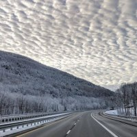 Insanely Gorgeous Clouds On The I-90 in the Berkshire Mountains