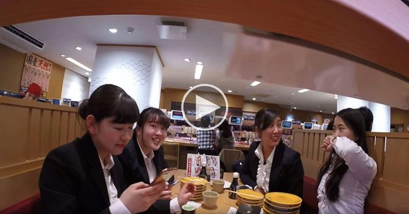 GoPro on Sushi Conveyor Belt