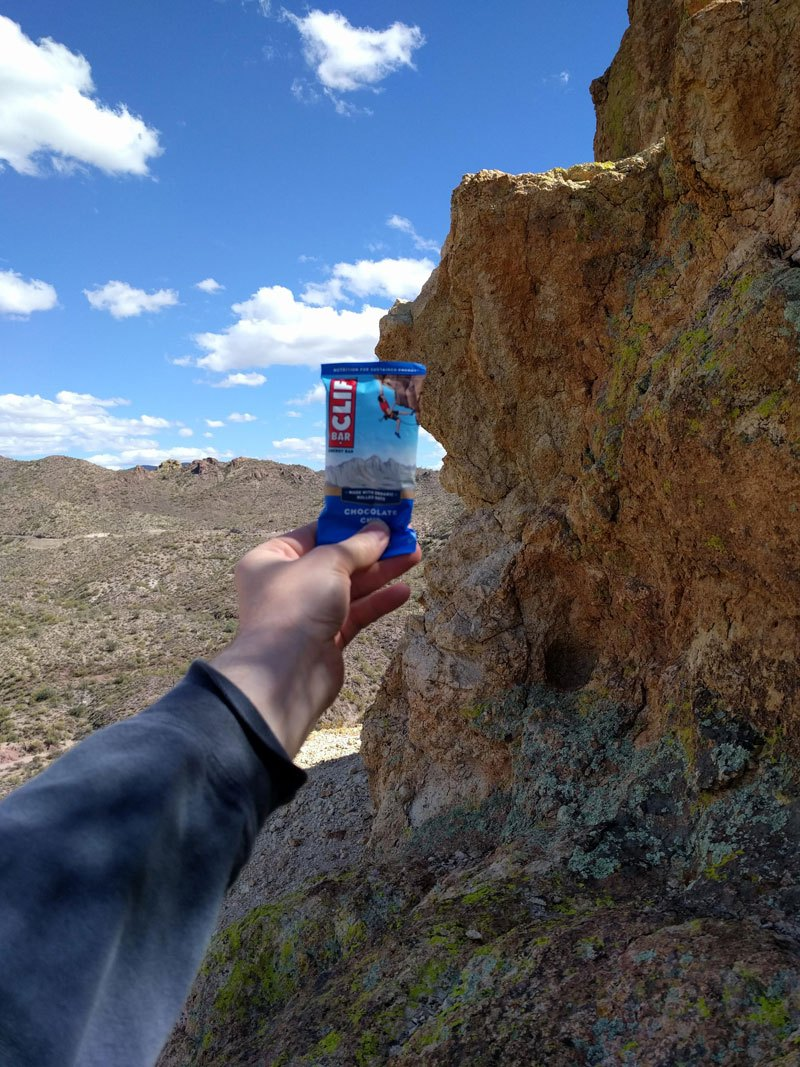 Guy Finds Cliff from the Clif Bar