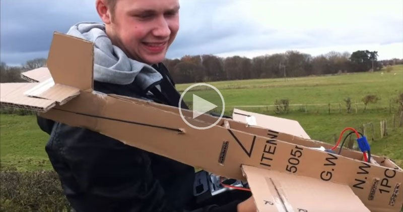 Guys Built a Cardboard Plane and the Test Flight It And That's Pure Joy
