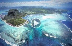 Mauritius' Underwater Waterfall