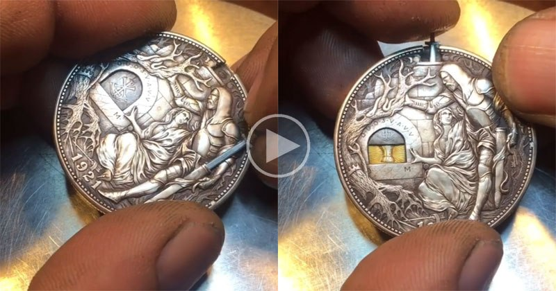 Awesome Custom Engraved Sword Coin by Roman Booteen