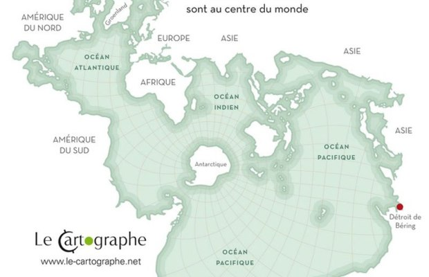World Map of Oceans andShorelines