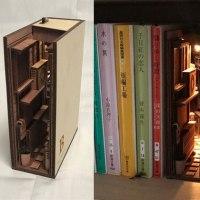 Stunning Wooden Bookshelf Inserts by Japanese ArtistMonde