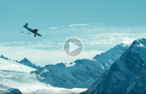 BASE Jumping Into an Airplane