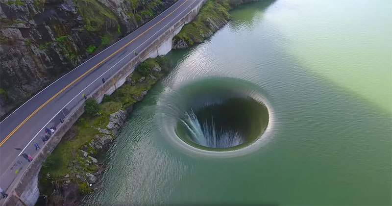 Glory Hole Spillway at Monticello Dam