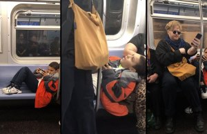 Kid Refused to Move His Legs So This Guy Just Sat on Them