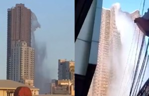 Earthquake in Manila Spilled The Rooftop Pool