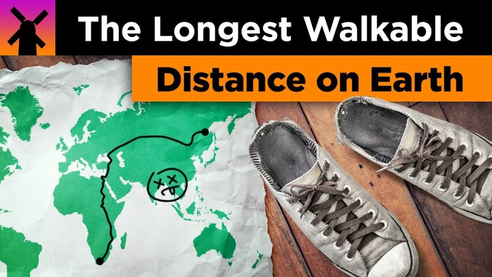 The Longest Walkable Distance on Earth