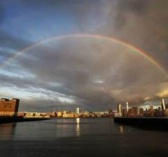 Rainbow Over New York