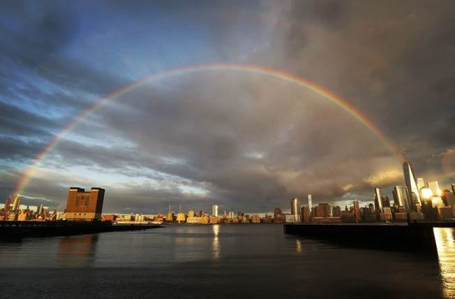 Rainbow Over New York