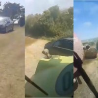 Farmer Covers Mercedes In Mud After Owner Parked It On The Field