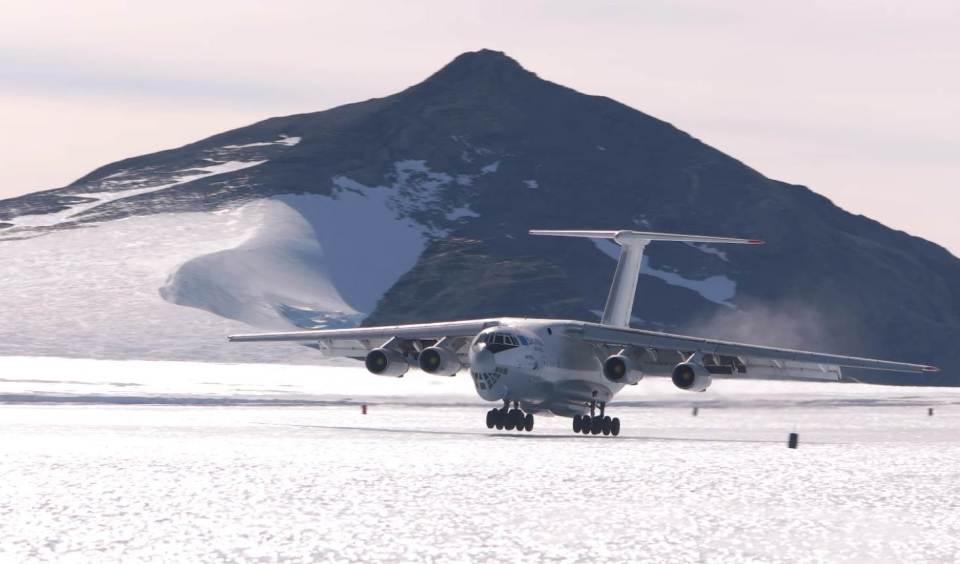 Union Glacier Camp in Antarctica