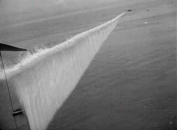 Smoke Curtain Used During WWII to Cover Naval Ships