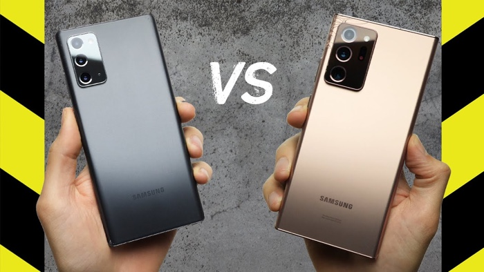 Samsung Galaxy Note 20 vs Galaxy Note 20 Ultra Drop Test