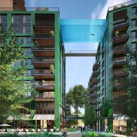 World's First Transparent 'Sky Pool' 115 Feet Above London Nearly Finished