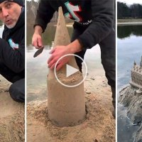 Artist Made Hogwarts Out of Sand