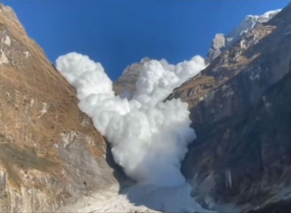 Avalanche Near Everest