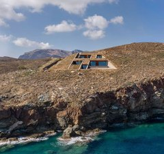House Built Into a Cliffside