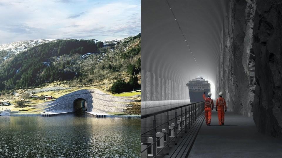 World's First Cruise Ship Tunnel