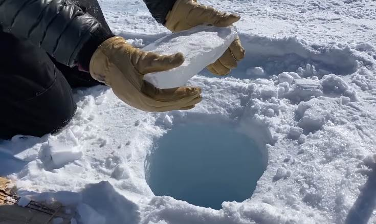 Dropping Ice Down a 450 ft.